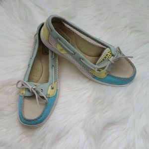 Sperry Angelfish turquoise mesh side shoes sz 7.5